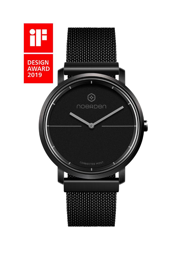 Life 2+, hybrid smartwatch, black