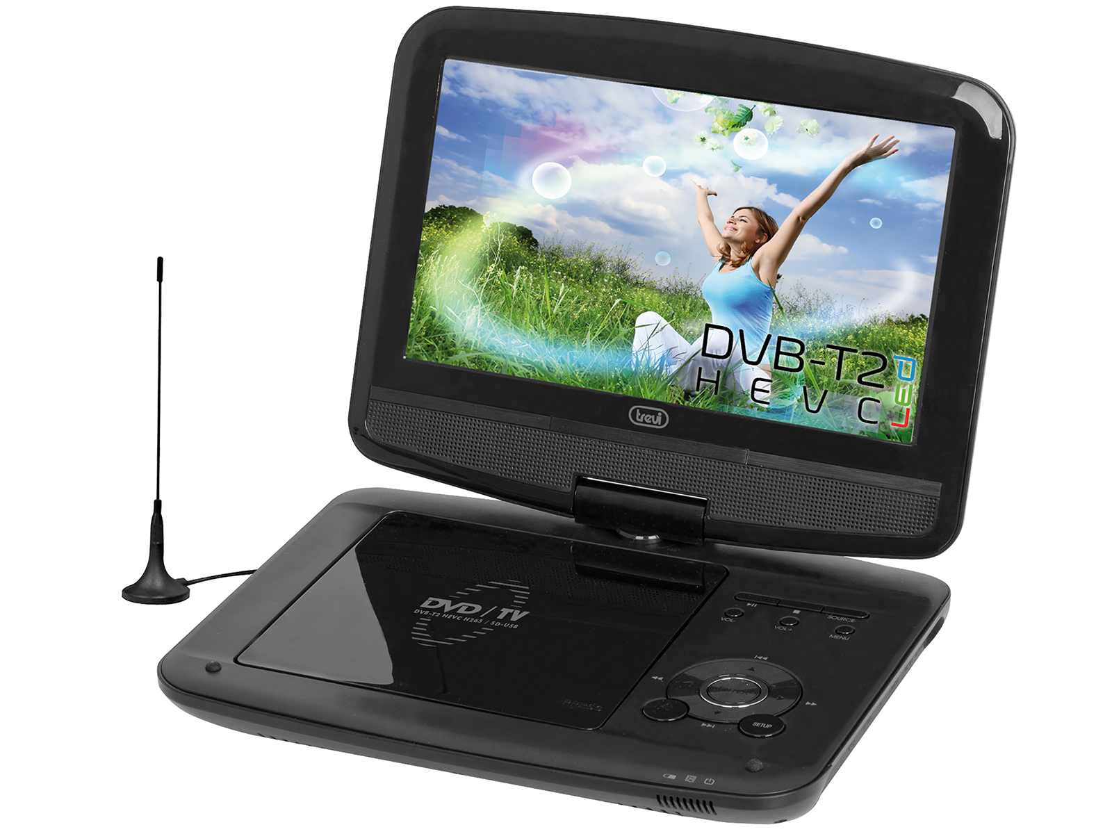 "DVBX-1418-HE, portable DVD 9""+ DVB-T2, black"