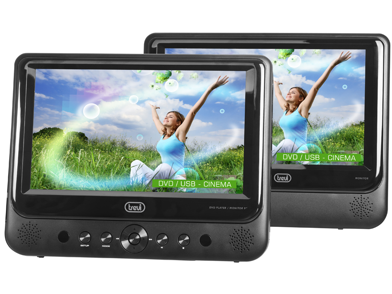 "TW-7005, portable DVD-player dual screen 7"", black"