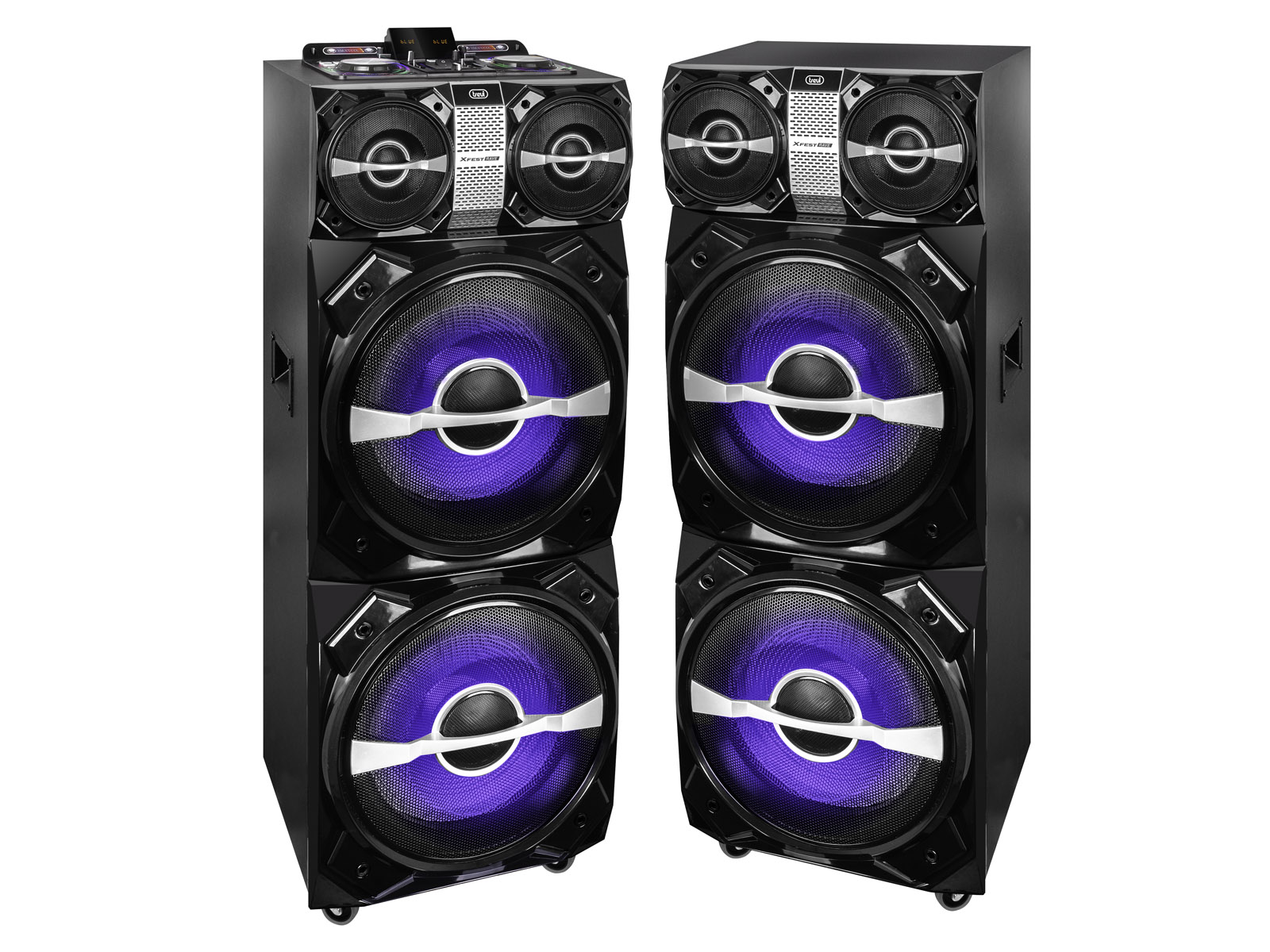 XF-4800-RAVE, double party speaker 600w, black