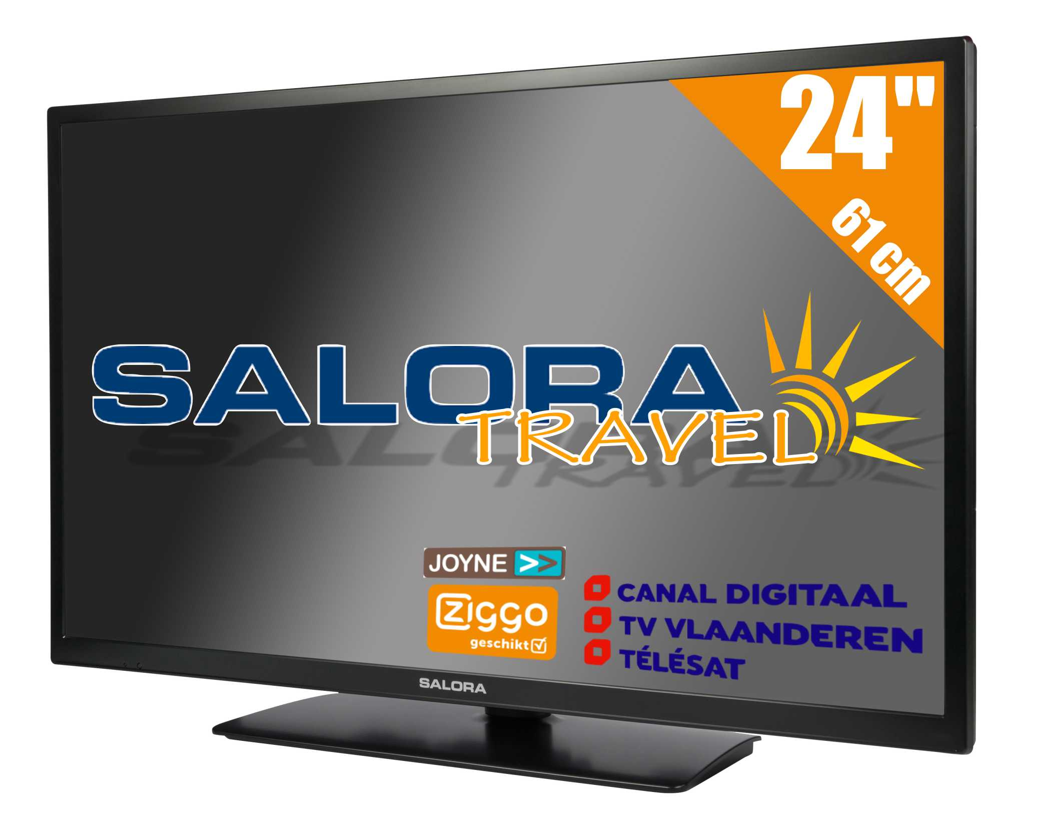 "24LED9109CTS2, 24""/61 cm travel TV 12/230 Volt, black"