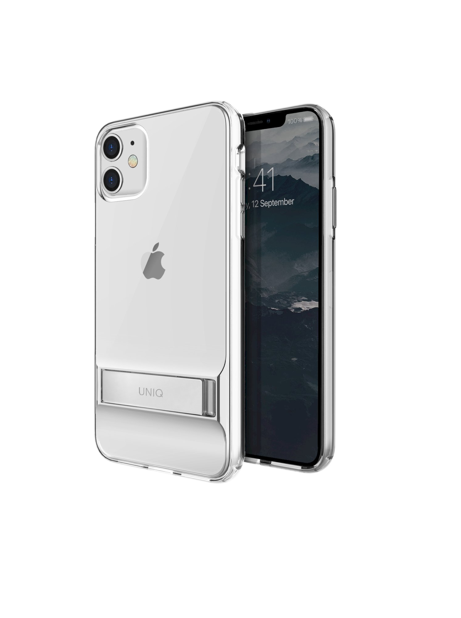 iPhone 11, case cabrio, stand up crystal, transparent