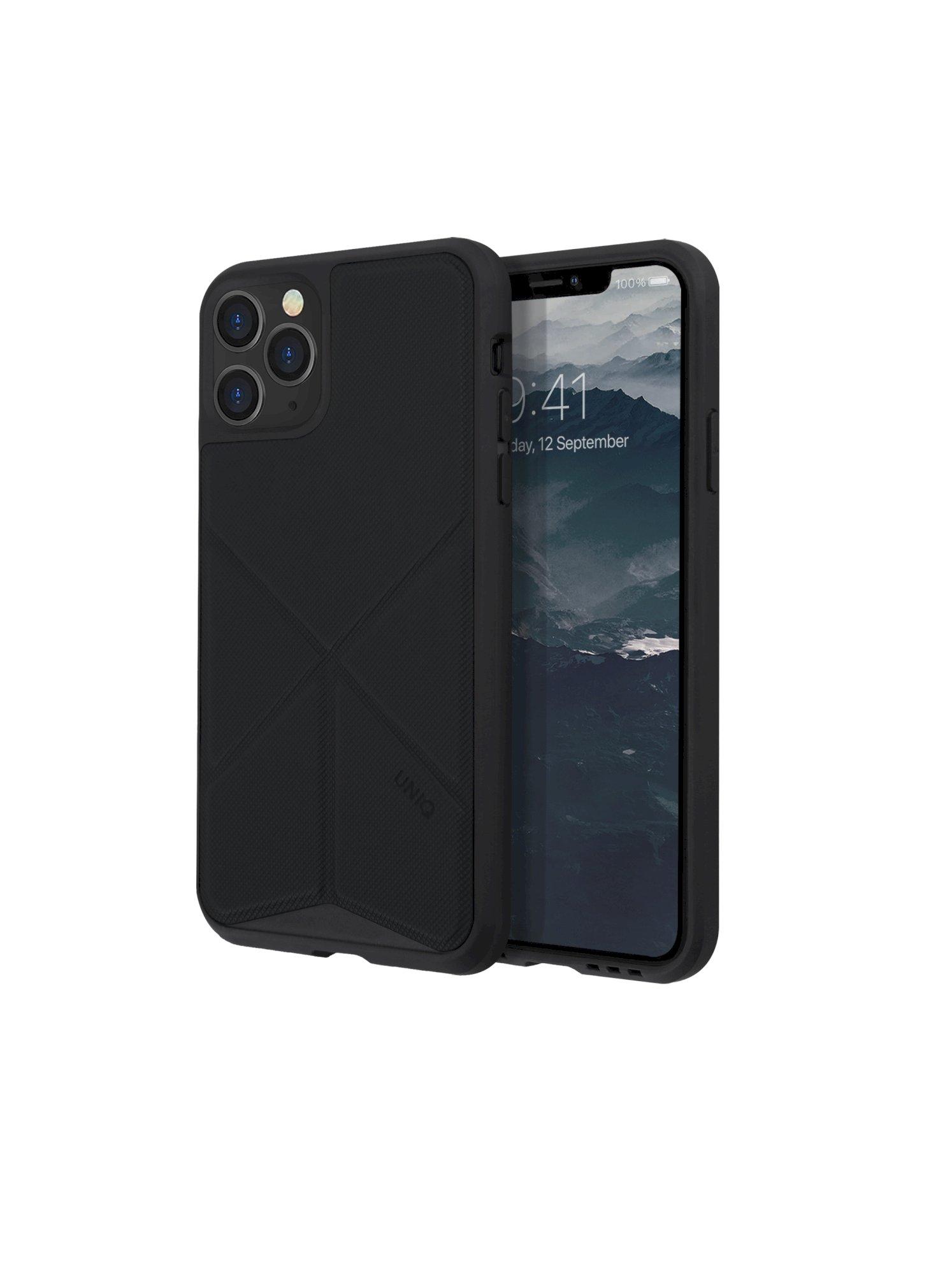 iPhone 11 Pro, case transforma, stand up ebony, black