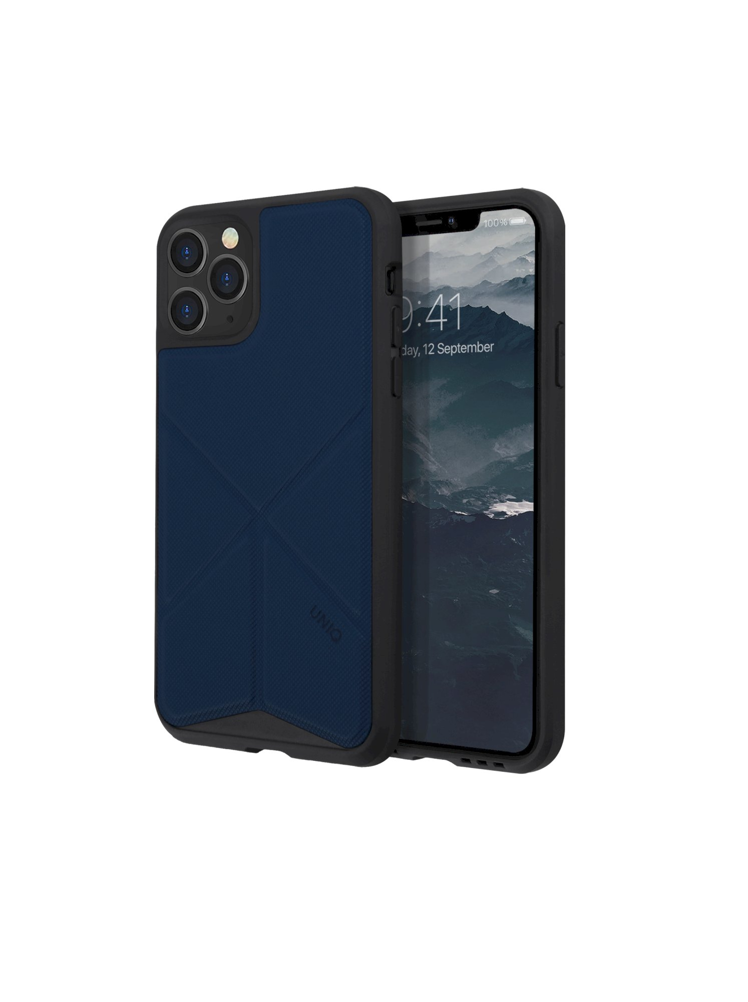 iPhone 11 Pro, case transforma, stand up navy panther, blue