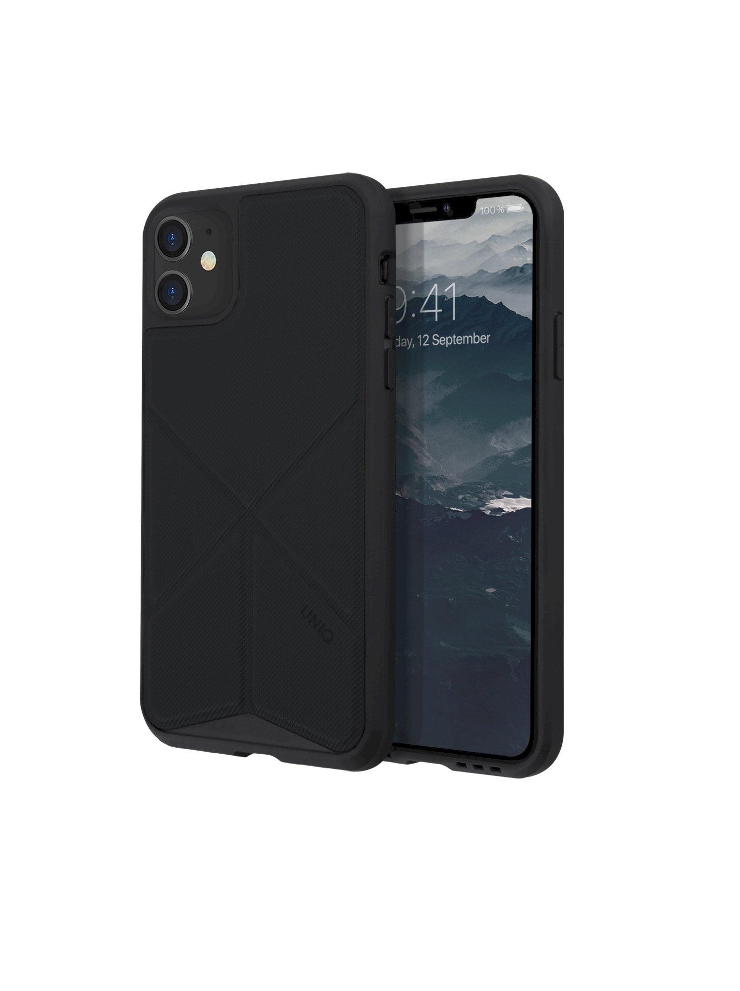 iPhone 11, case transforma, stand up ebony, black