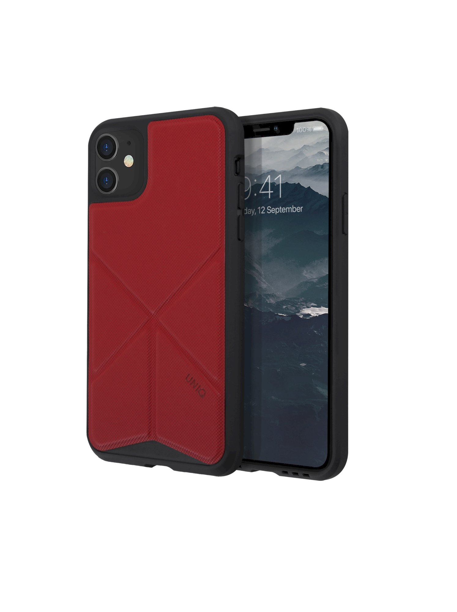 iPhone 11, case transforma, stand up fury racer, red