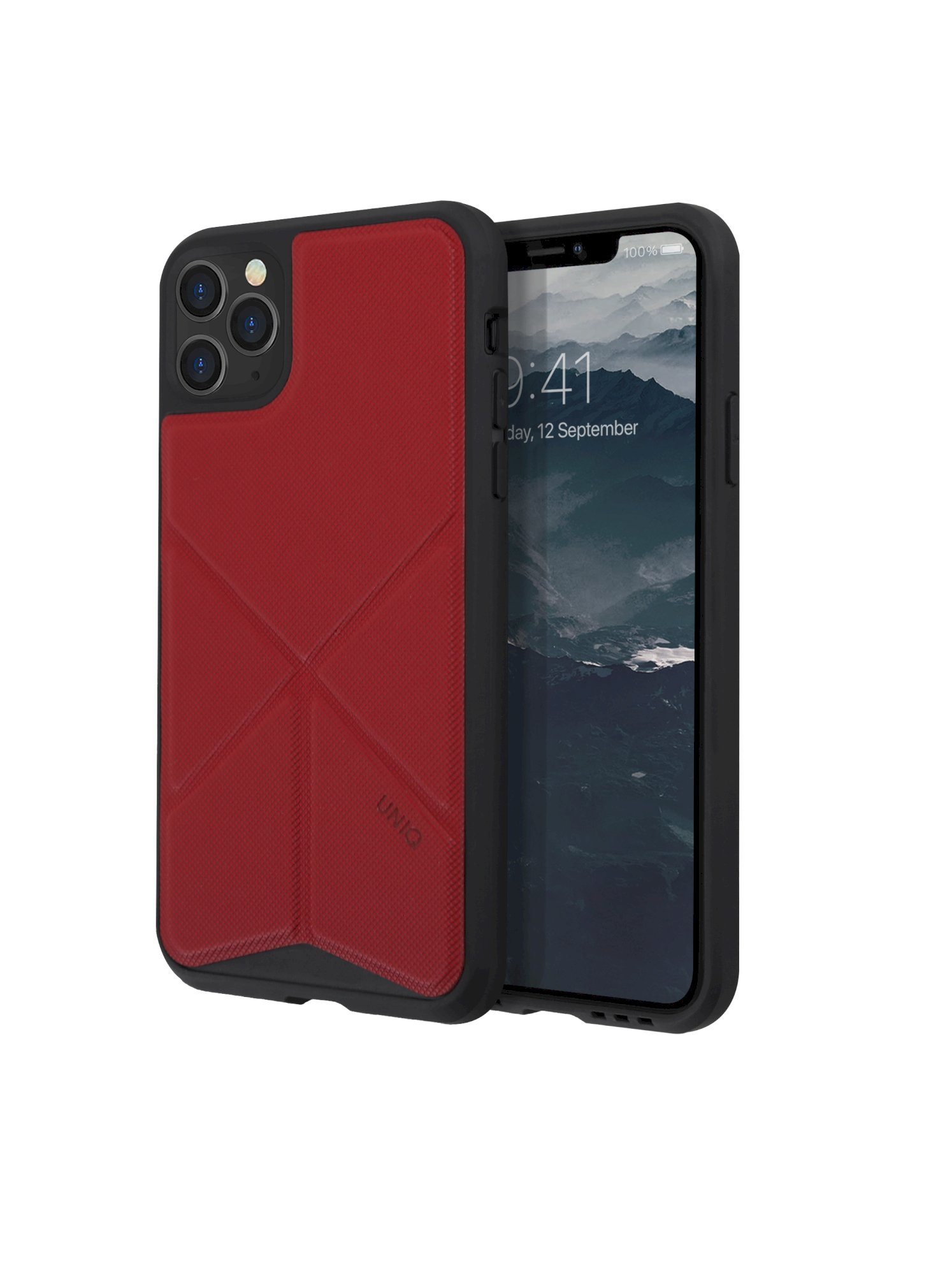 iPhone 11 Pro Max, case transforma, stand up fury racer, red