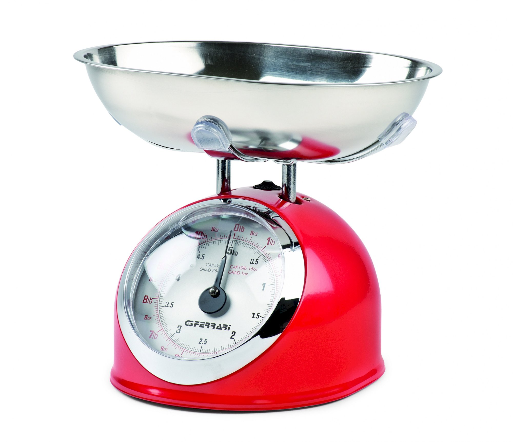 G2000302, Aska, mechanical kitchen scale, red