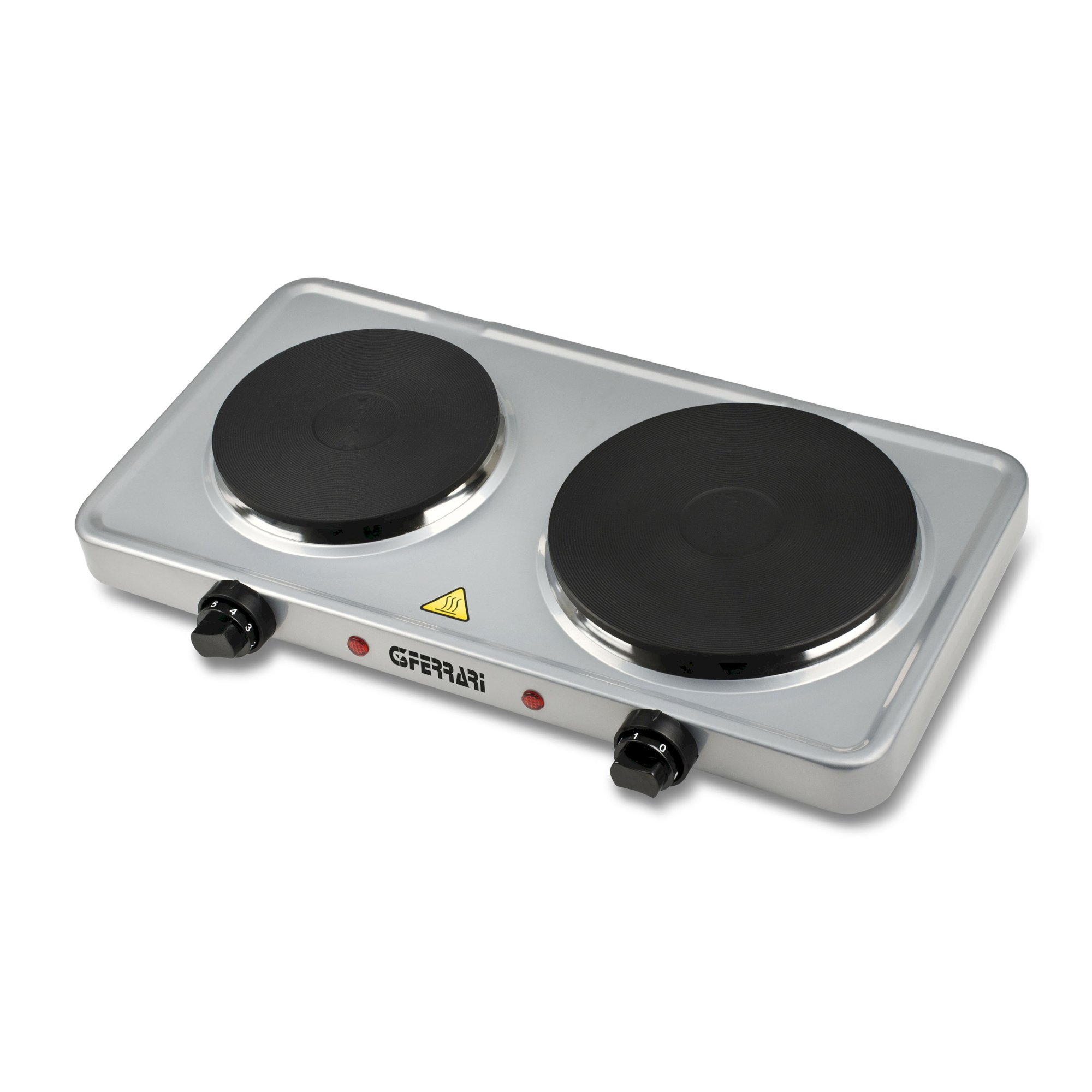 G1012200, Caldos, double electric hotplate, 1500+1000W, silver