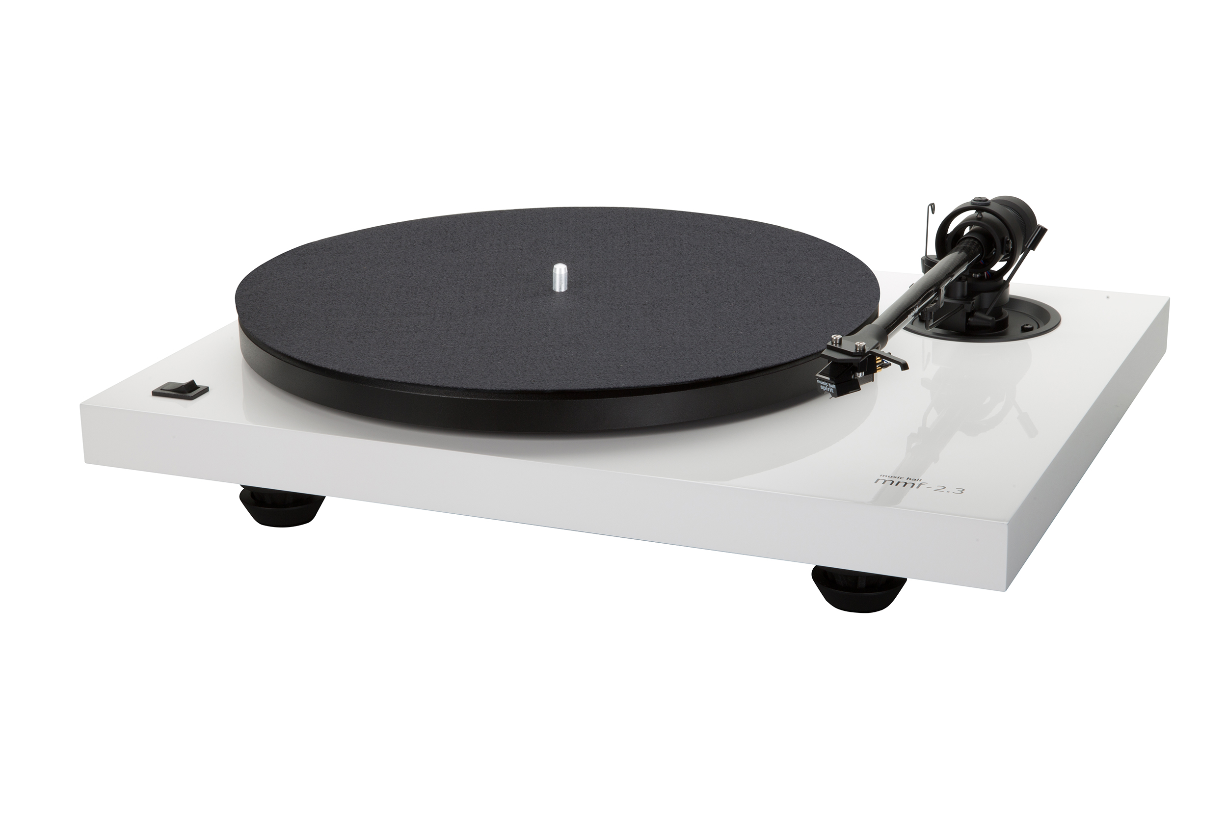 MMF-2.3WH, turntable with Spirit, white