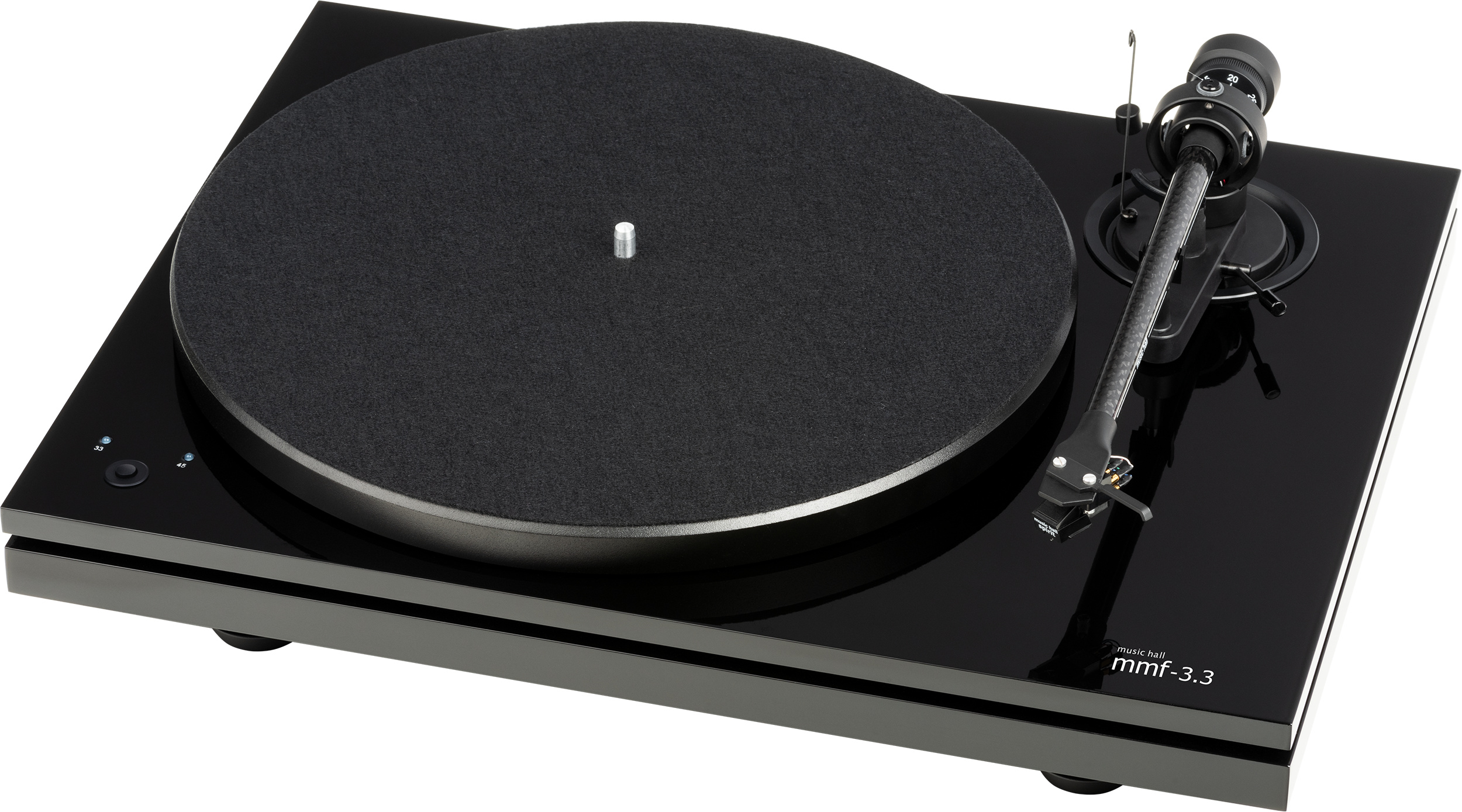 MMF-3.3, turntable with Ortofon Red, black