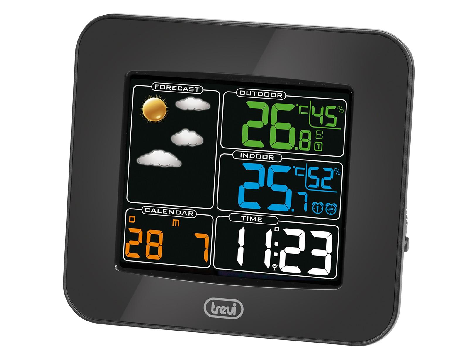 ME-3165-RC, weather station color screen + ext. sensor, black