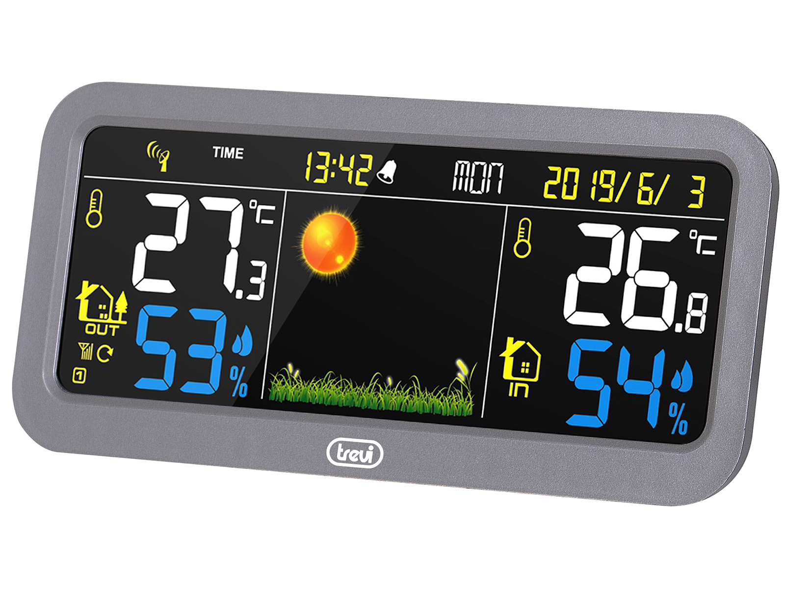 ME-3P20-RC, weather station color screen + ext. sensor, silver