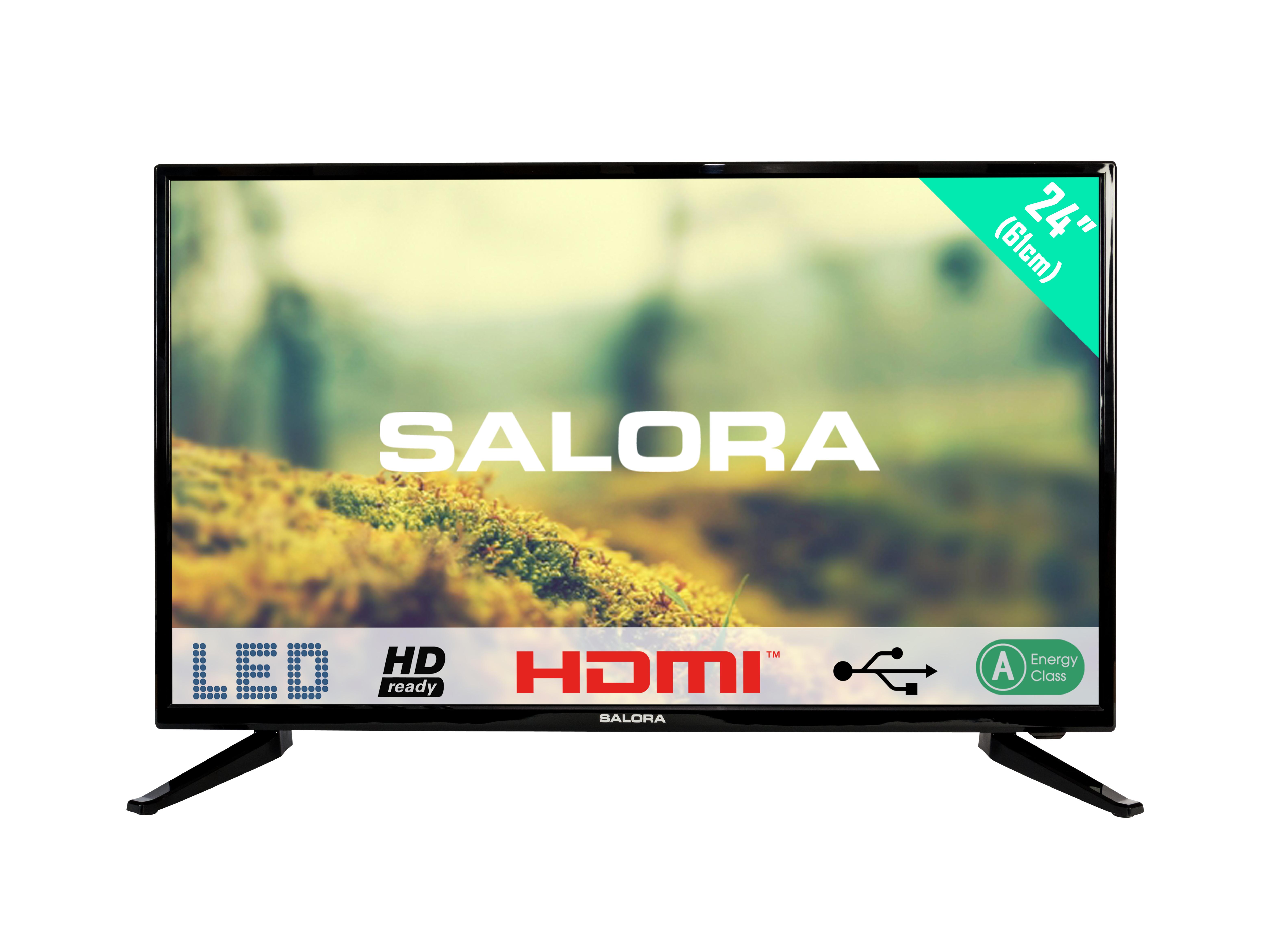 """24""""/61cm LED TV HD, black"""