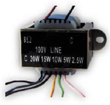 T20, LS transformator 100V, 2.5-5-10-15-20W