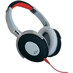 On-ear HPH, city, white/red